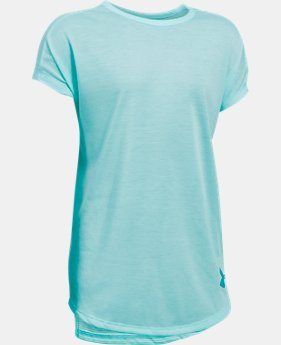 PRO PICK Girls' UA Threadborne Play Up T-Shirt  2 Colors $13.99 to $18.74