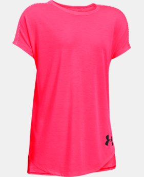 Girls' UA Threadborne Play Up T-Shirt  2 Colors $24.99