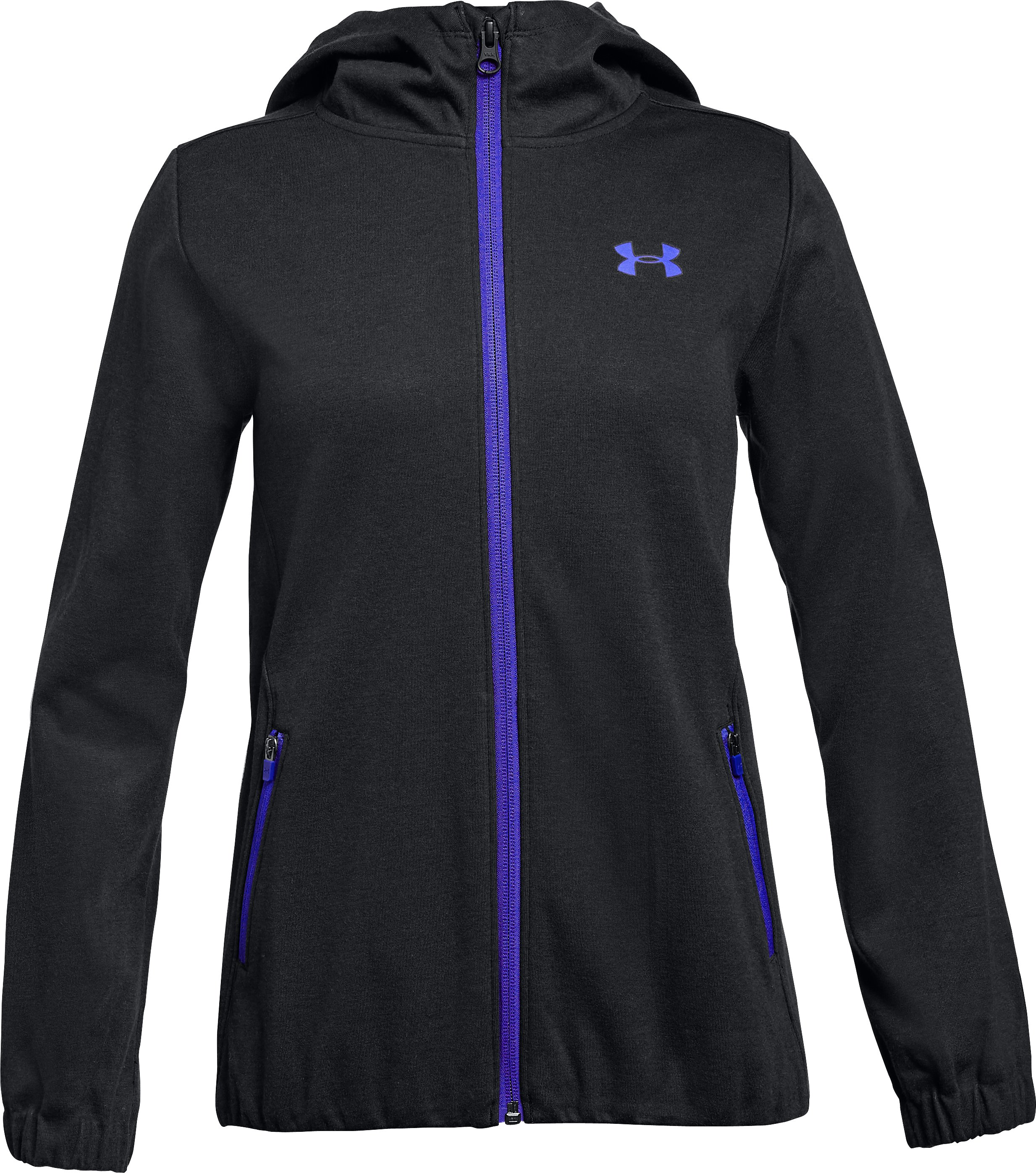 Girls' UA Lightweight Swacket, Black ,
