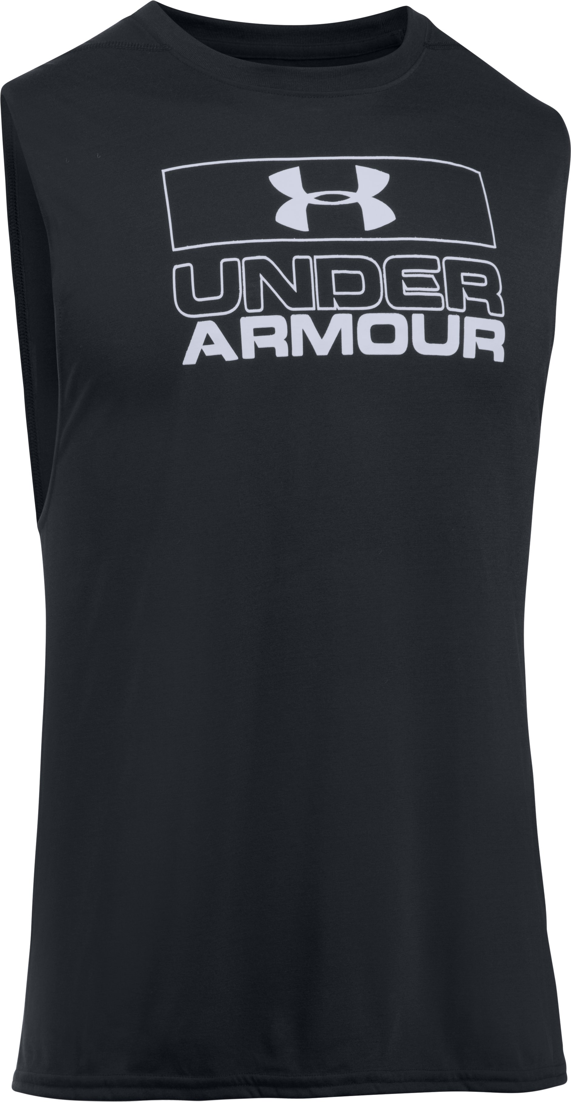 Men's UA Muscle Tank, Black , undefined
