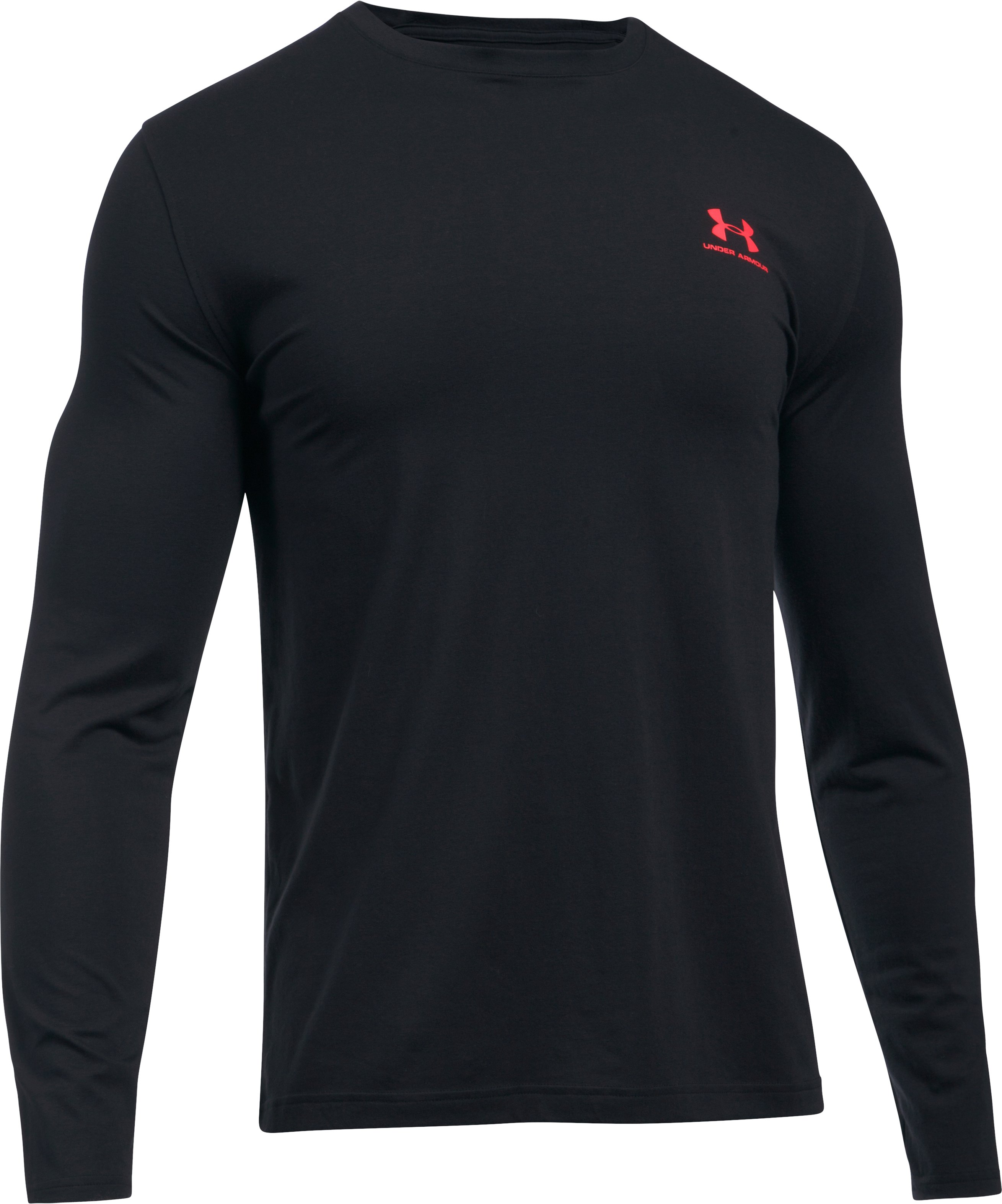 Men's UA Chest Logo Long Sleeve T-Shirt , Black , undefined