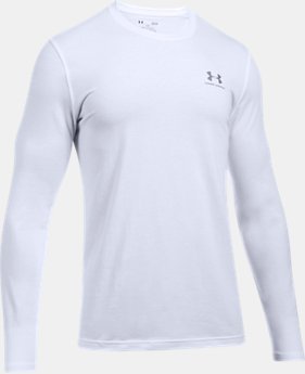 Best Seller Men's UA Chest Logo Long Sleeve T-Shirt   1 Color $29.99