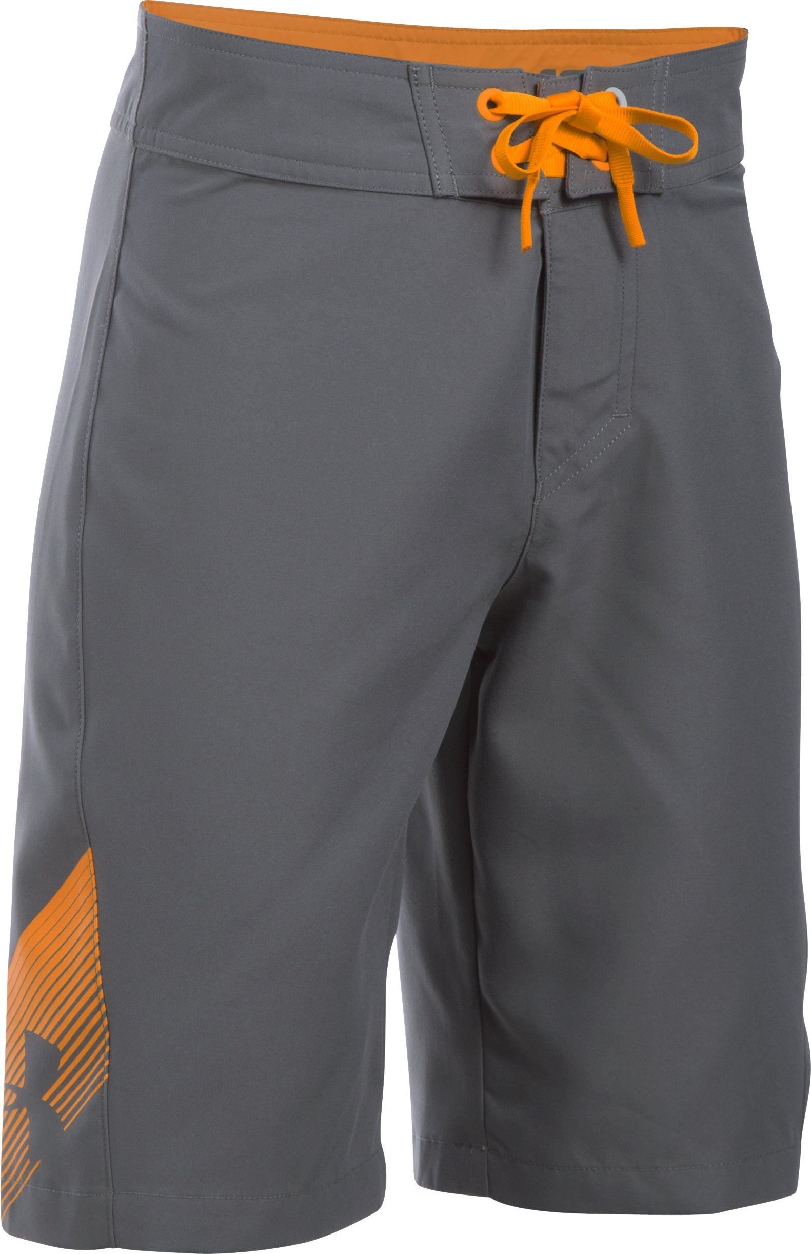 Boys' UA Rigid Boardshorts, Graphite, undefined