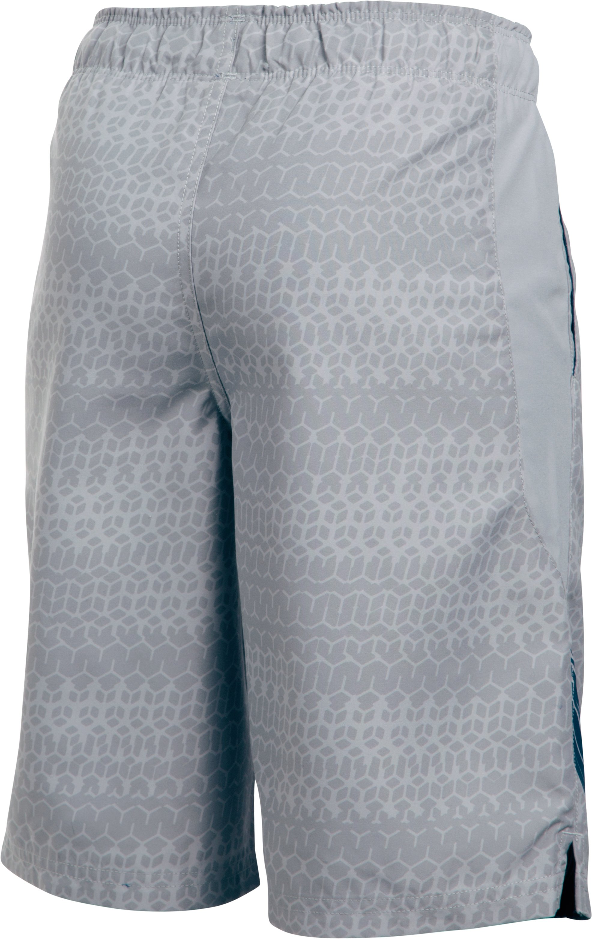 Boys' UA Volley Boardshorts, OVERCAST GRAY