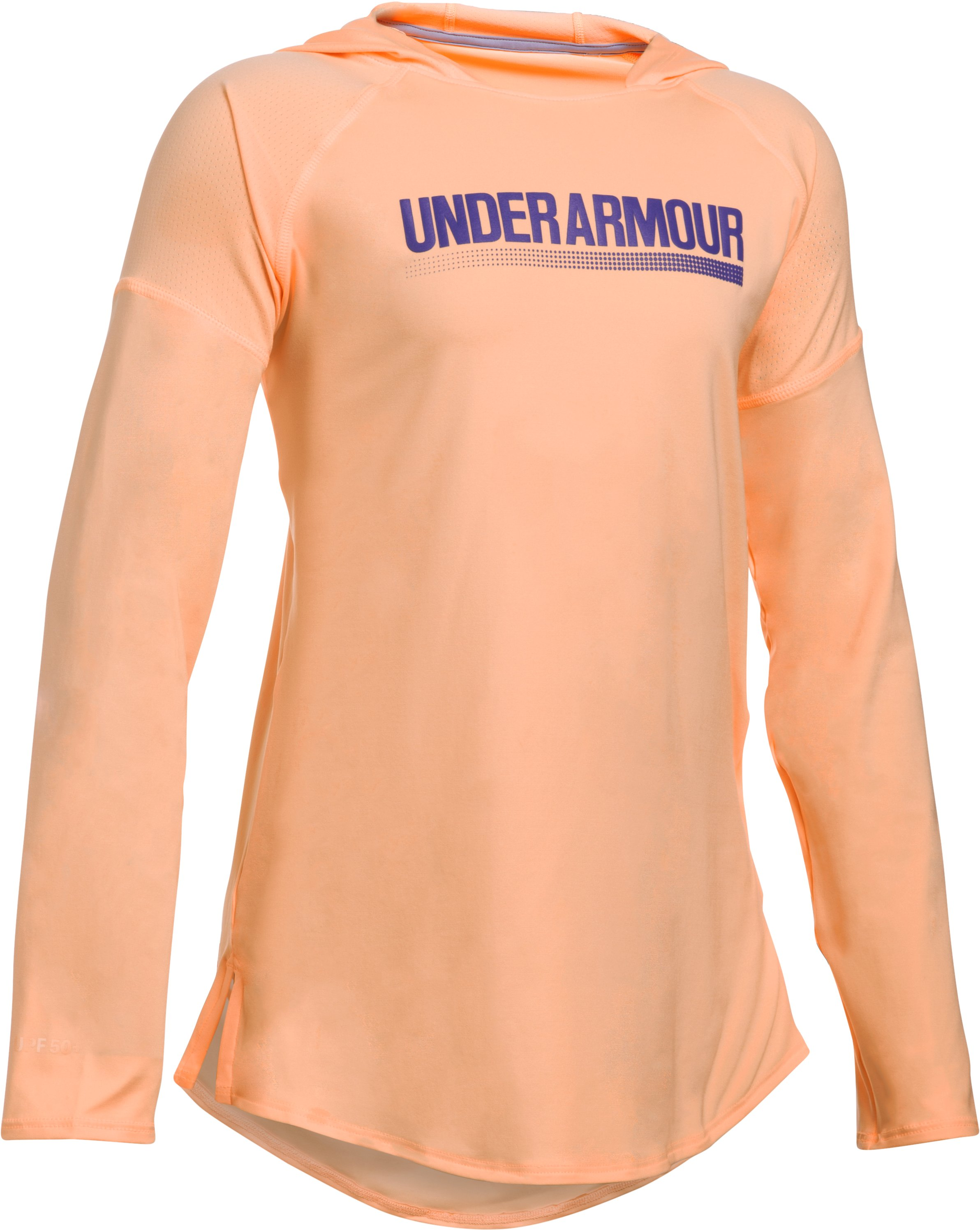 Girls' UA The 50 Long Sleeve Hoodie, PLAYFUL PEACH