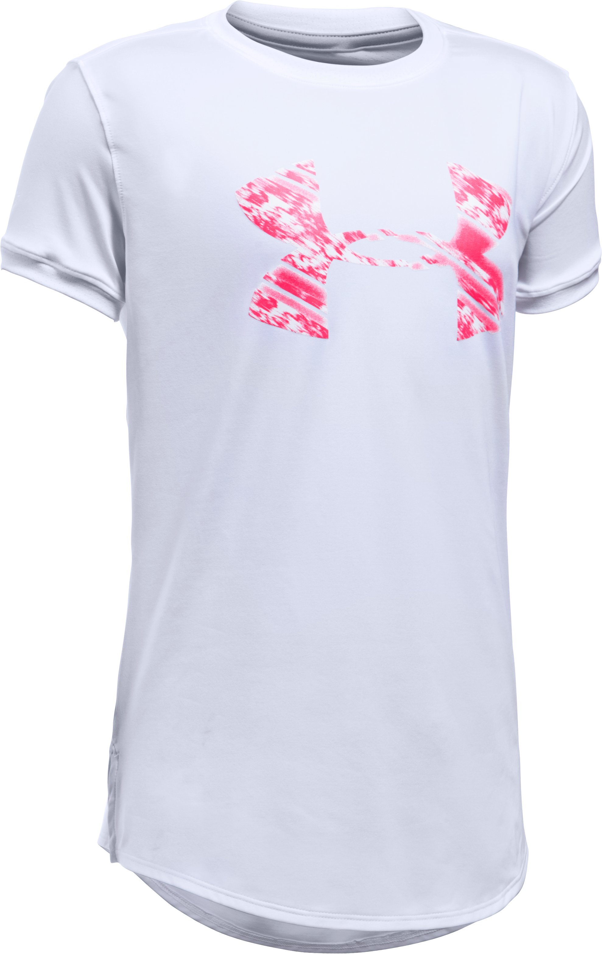 Girls' UA The 50 Short Sleeve T-Shirt, White,
