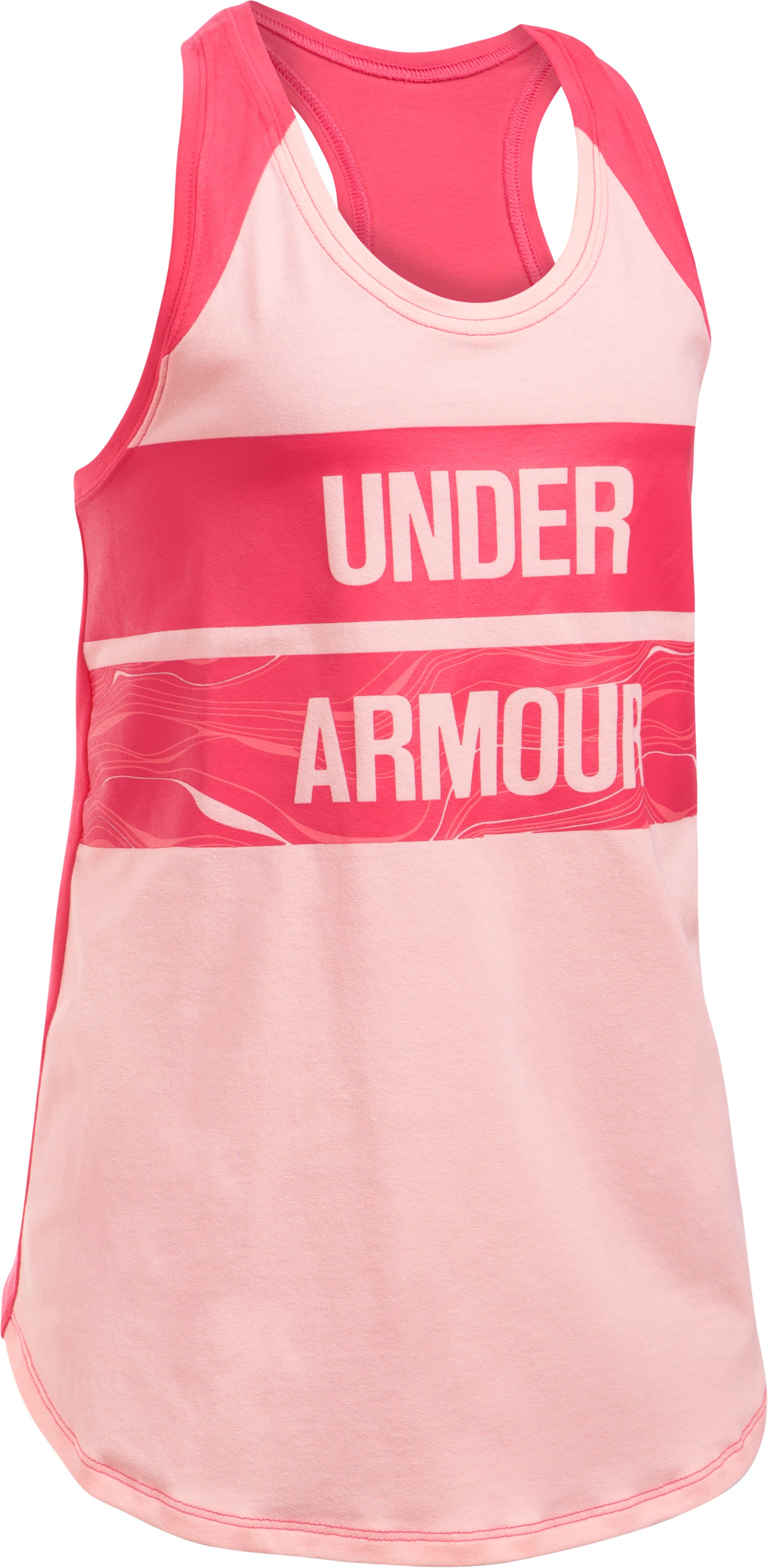 Girls' UA Graphic Tank, BALLET PINK