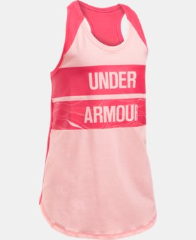 New to Outlet Girls' UA Graphic Tank  3 Colors $10.99 to $14.99