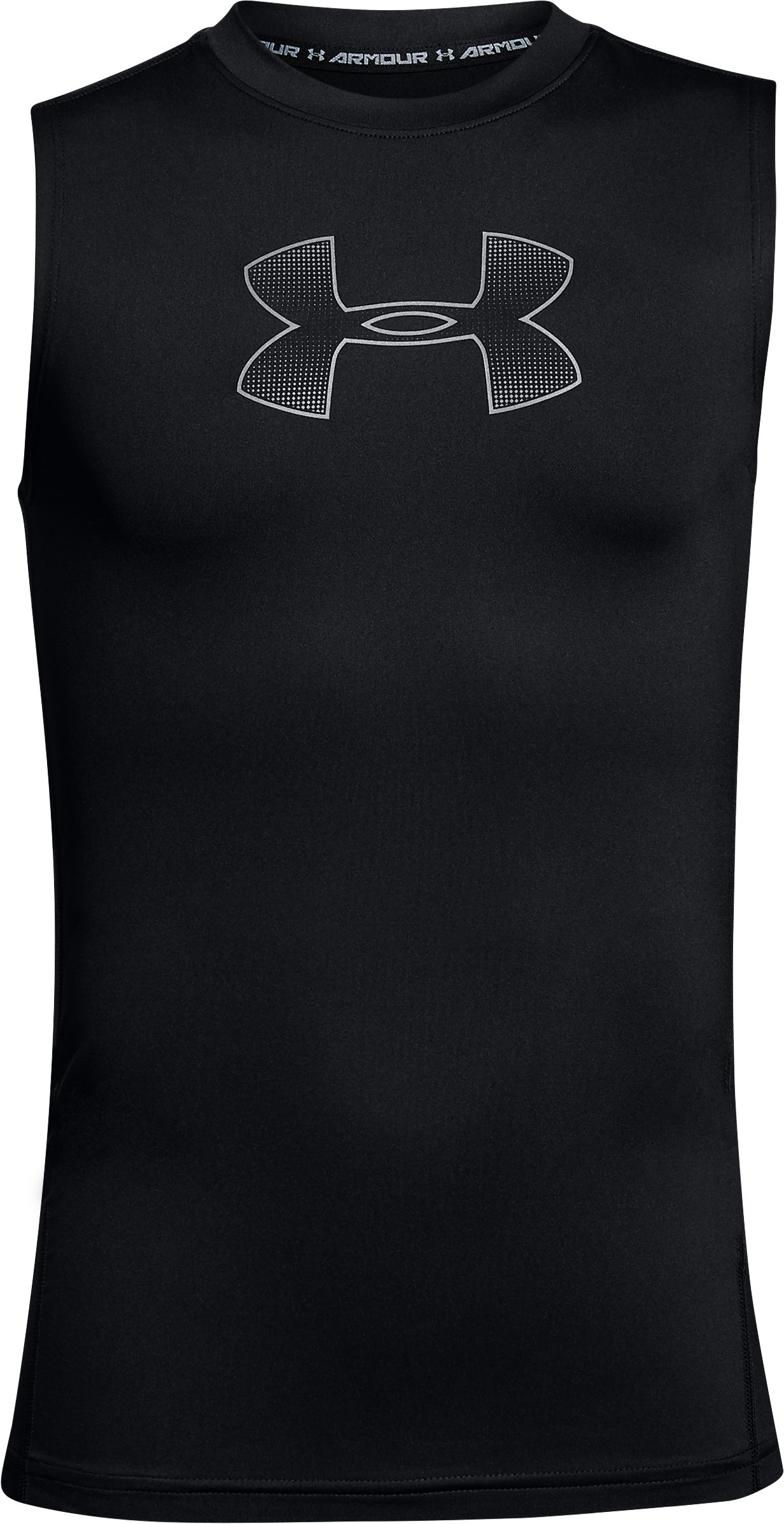 Boys' HeatGear® Armour Sleeveless, Black ,