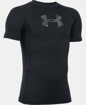Boys' HeatGear® Armour Short Sleeve Fitted Shirt  1 Color $22.99