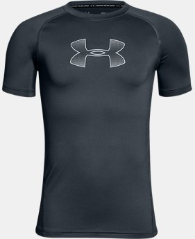 Boys' HeatGear® Armour Short Sleeve  1 Color $24.99