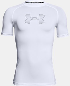 Boys' HeatGear® Armour Short Sleeve  3  Colors Available $24.99