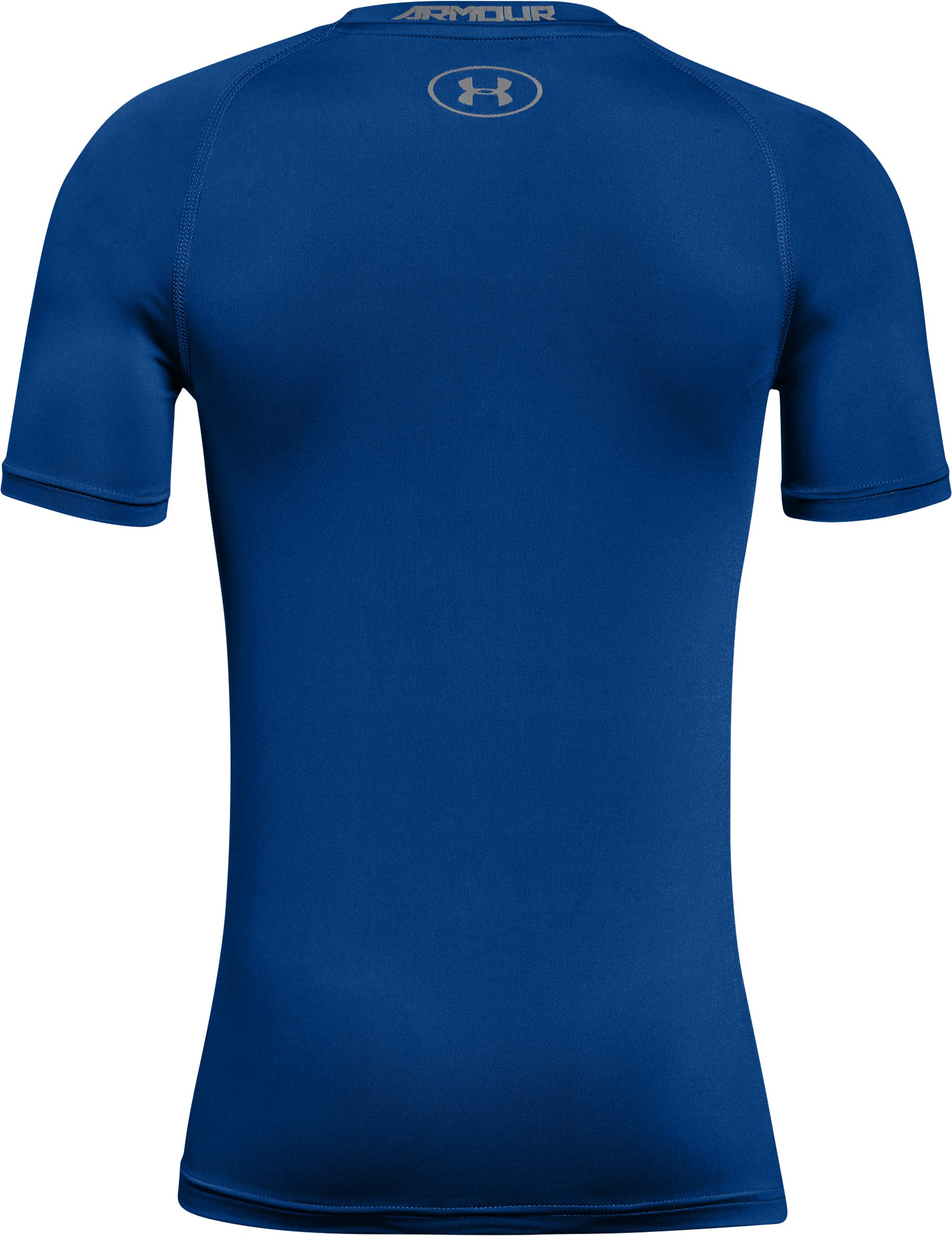 Boys' HeatGear® Armour Short Sleeve, Royal, undefined