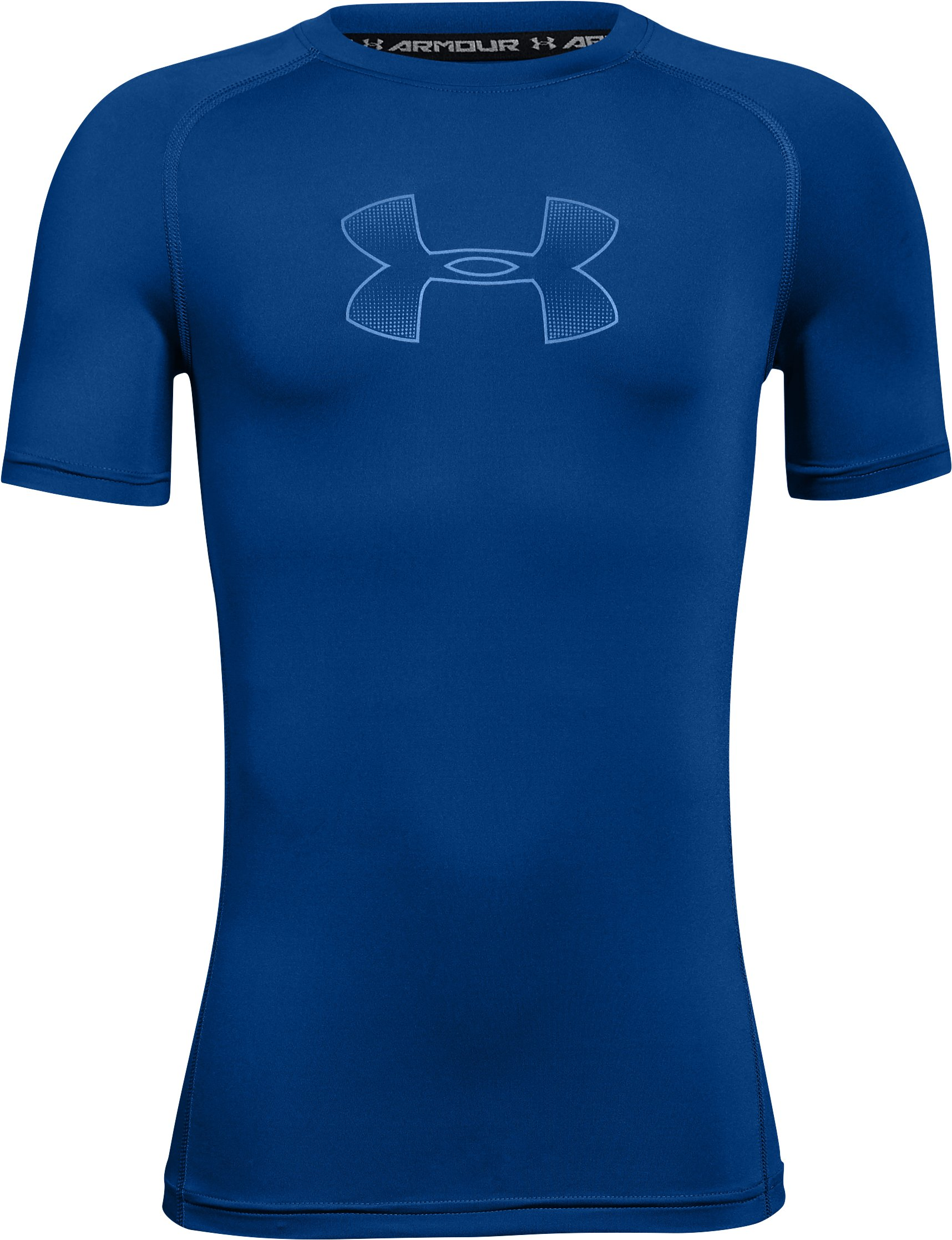Boys' HeatGear® Armour Short Sleeve, Royal