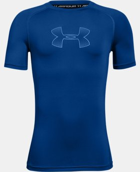 Boys' HeatGear® Armour Short Sleeve  3 Colors $22.99 to $24.99