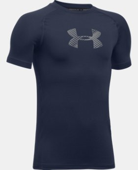 Boys' HeatGear® Armour Short Sleeve  1 Color $17.24