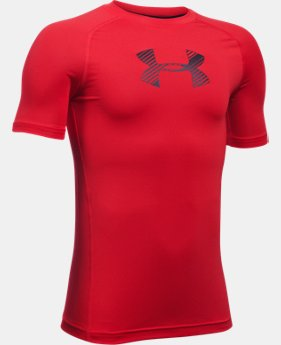 Boys' HeatGear® Armour Short Sleeve   $27.99