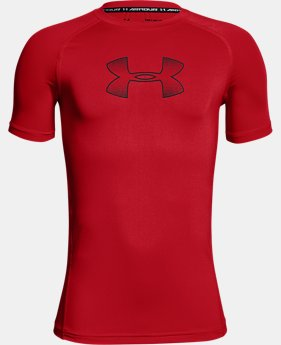 Boys' HeatGear® Armour Short Sleeve  2 Colors $22.99 to $24.99