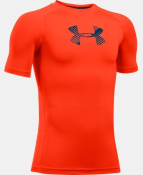 Boys' HeatGear® Armour Short Sleeve  1 Color $17.99
