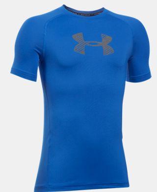 男童HeatGear® Armour修身型短袖T恤