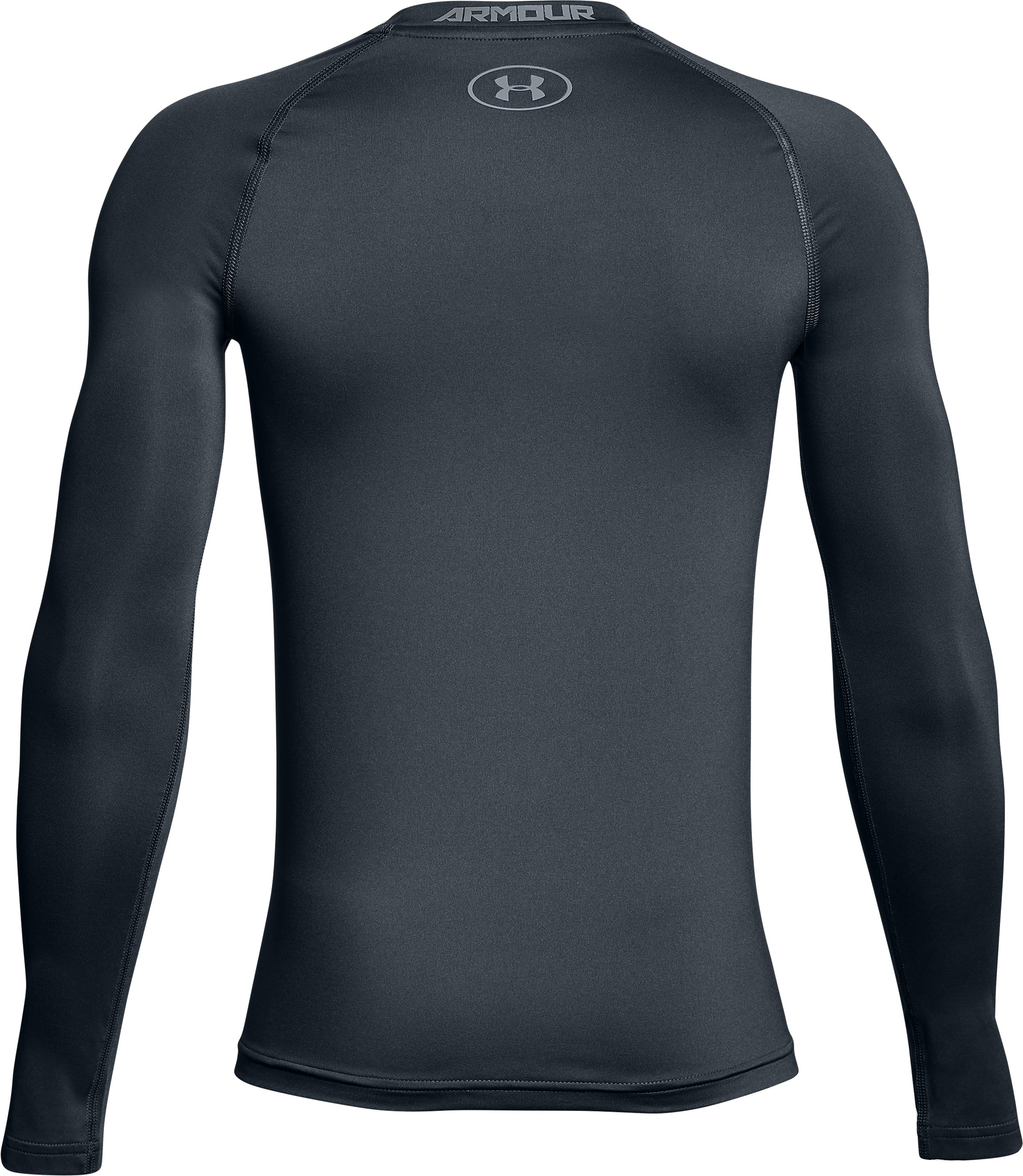 Boys' HeatGear® Armour Long Sleeve, STEALTH GRAY,