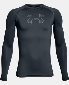 Boys' HeatGear® Armour Long Sleeve  2  Colors Available $29.99