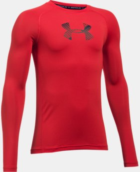 New to Outlet Boys' HeatGear® Armour Long Sleeve  4 Colors $17.99 to $22.99