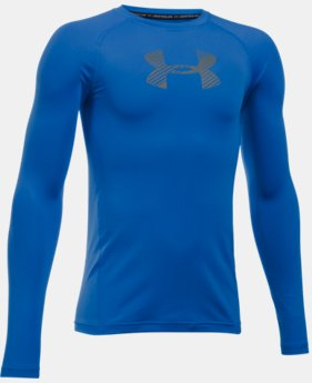 New Arrival Boys' HeatGear® Armour Long Sleeve Shirt  1 Color $29.99