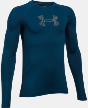 Boys' HeatGear® Armour Long Sleeve  1 Color $17.99