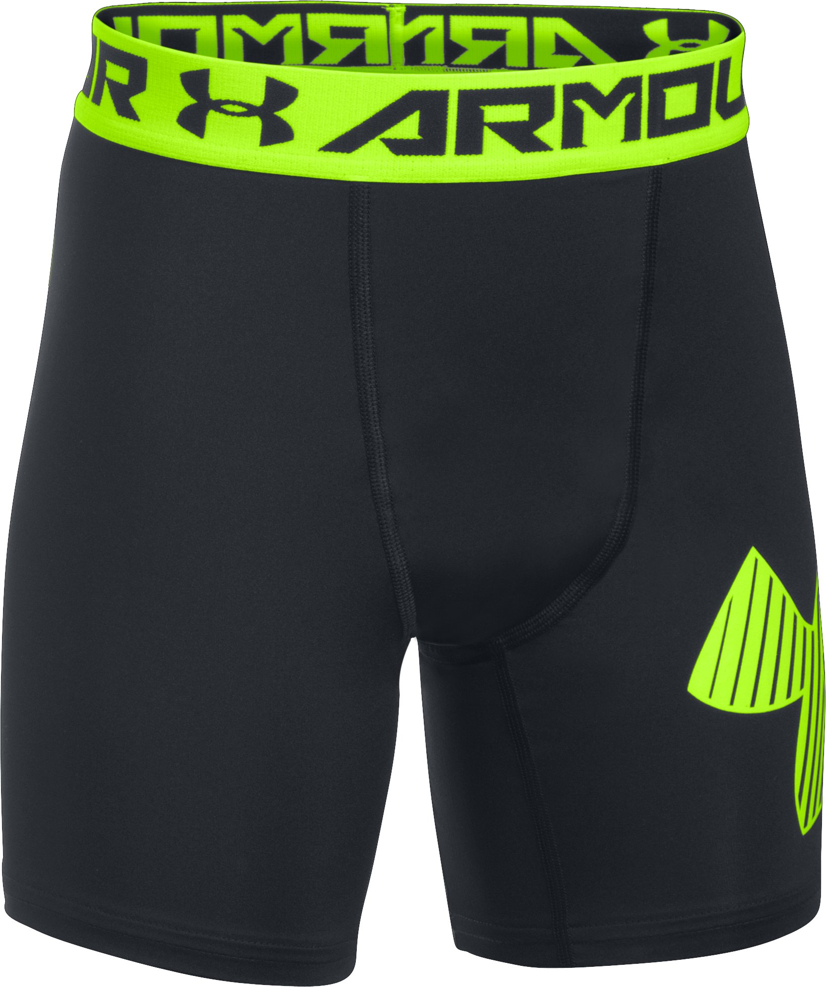 Boys' HeatGear® Armour Mid Shorts, Black