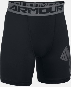 Boys' HeatGear® Armour Mid Shorts  1 Color $22.99