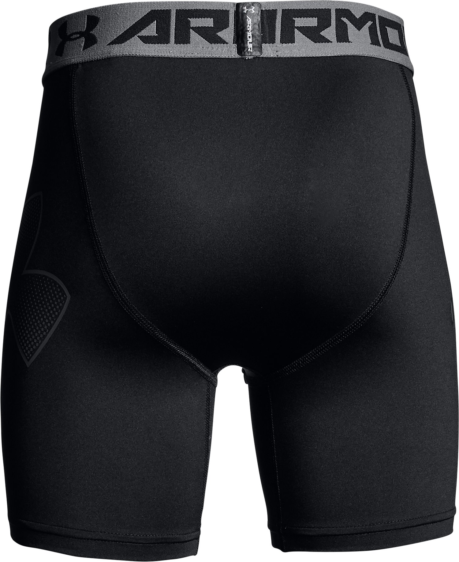 Boys' HeatGear® Armour Mid Shorts, Black ,