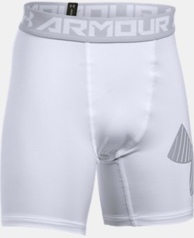 Boys' HeatGear® Armour Mid Shorts  2  Colors Available $16.79 to $20.99
