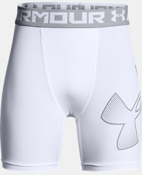 Boys' HeatGear® Armour Mid Shorts  1  Color Available $22.99