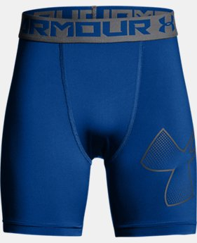 Boys' HeatGear® Armour Mid Shorts  4  Colors Available $22.99