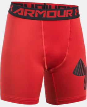 Boys' HeatGear® Armour Mid Shorts  1 Color $17.24