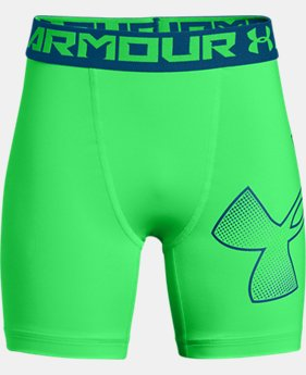 Boys' HeatGear® Armour Mid Shorts  2  Colors Available $11.5 to $17.24