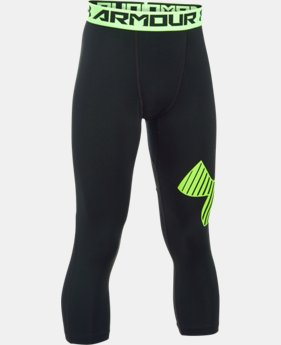 Boys' HeatGear® Armour Logo ¾ Leggings  2 Colors $29.99