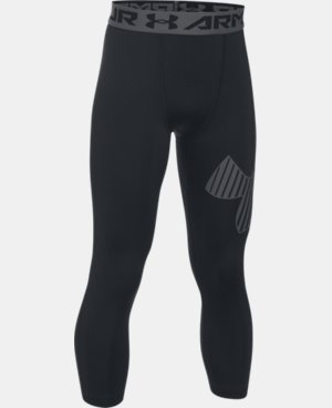 New Arrival Boys' HeatGear® Armour Logo ¾ Leggings   $29.99