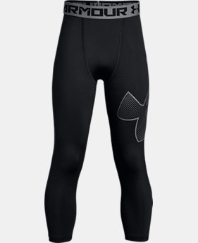 Boys' HeatGear® Armour ¾ Logo Leggings  1  Color Available $34.99