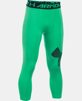 Boys' HeatGear® Armour Logo ¾ Leggings  1 Color $29.99