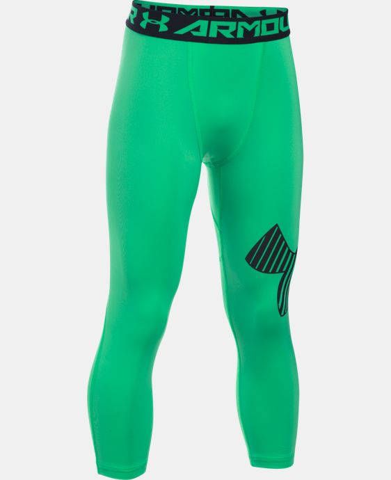 Boys' HeatGear® Armour Logo ¾ Leggings   $29.99