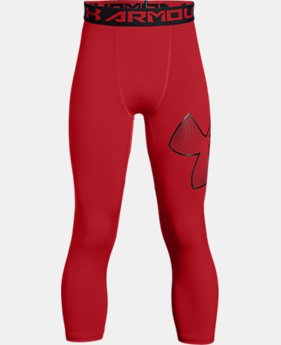Boys' HeatGear® Armour ¾ Logo Leggings   $29.99