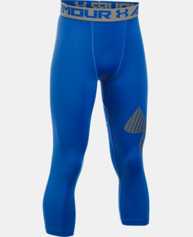 New Arrival Boys' HeatGear® Armour Logo ¾ Leggings  1 Color $29.99