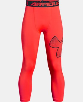 Boys' HeatGear® Armour ¾ Logo Leggings  1  Color Available $22.99