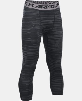 Boys' HeatGear® Armour HeatGear® Printed ¾ Leggings  1 Color $34.99