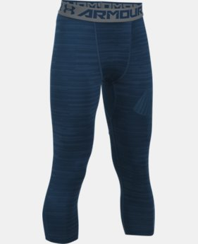 New Arrival Boys' HeatGear® Armour HeatGear® Printed ¾ Leggings   $34.99