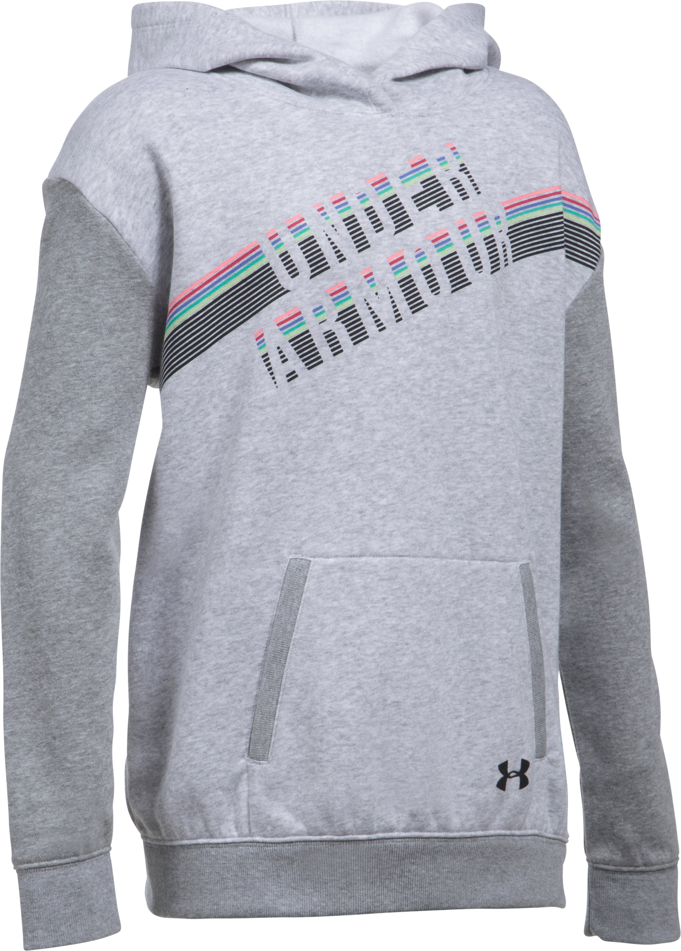 Girls' UA Favorite Fleece Hoodie, AIR FORCE GRAY HEATHER,