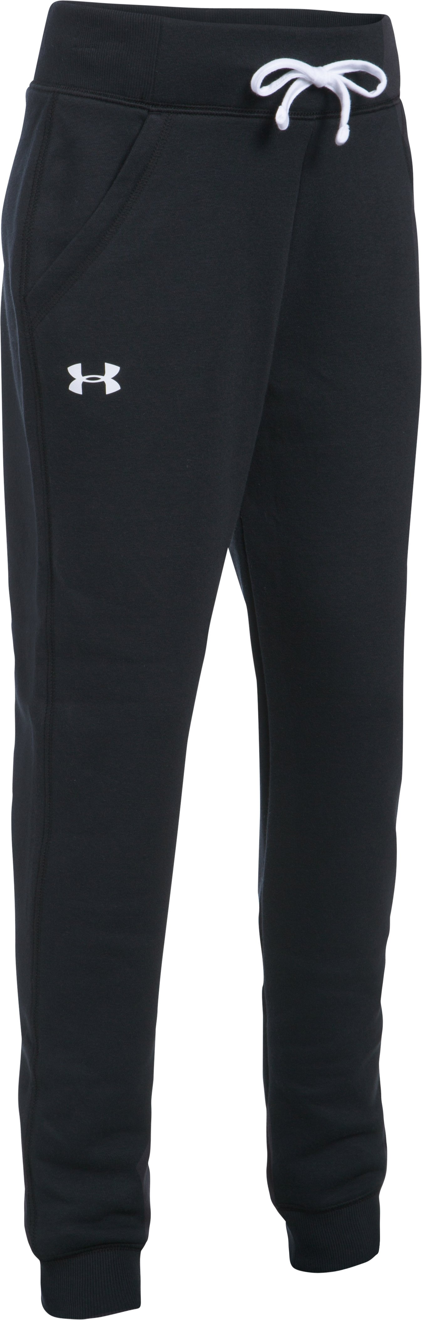 Girls' UA Favorite Fleece Joggers, Black