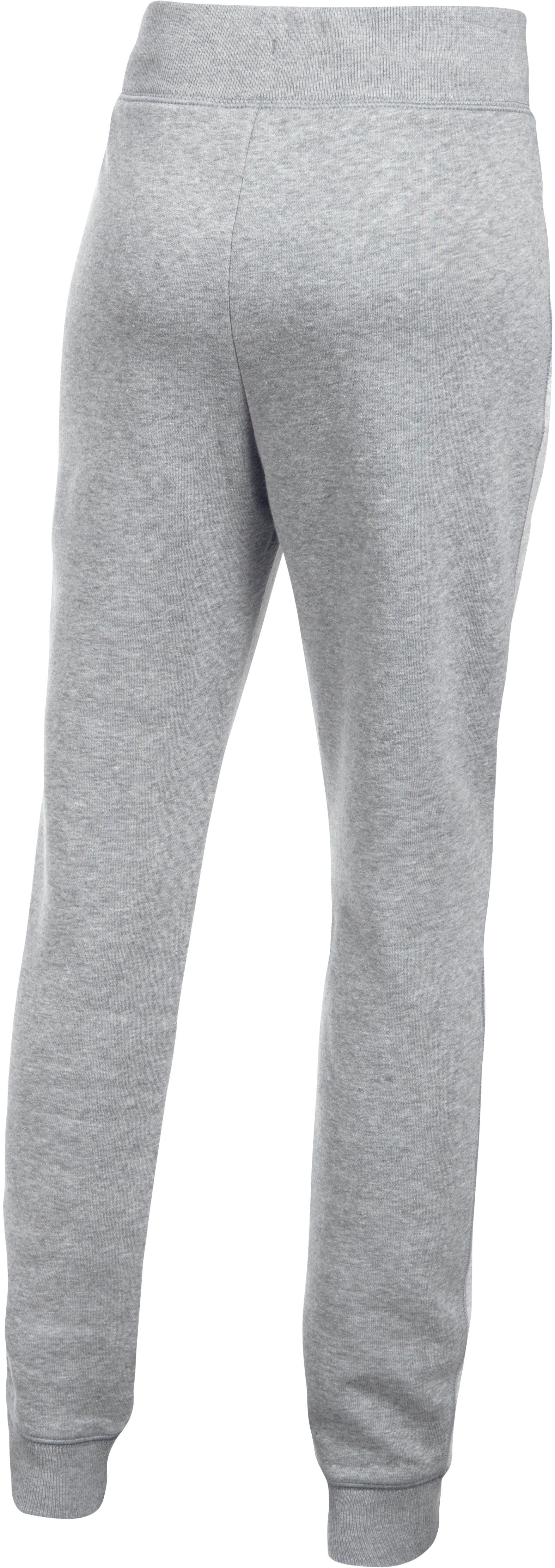 Girls' UA Favorite Fleece Joggers, AIR FORCE GRAY HEATHER,